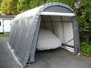 Image is loading Shelter-Logic-10x20x8-Car-Truck-Boat-Cover-Portable- & Shelter Logic 10x20x8 Car Truck Boat Cover Portable Garage Steel ...