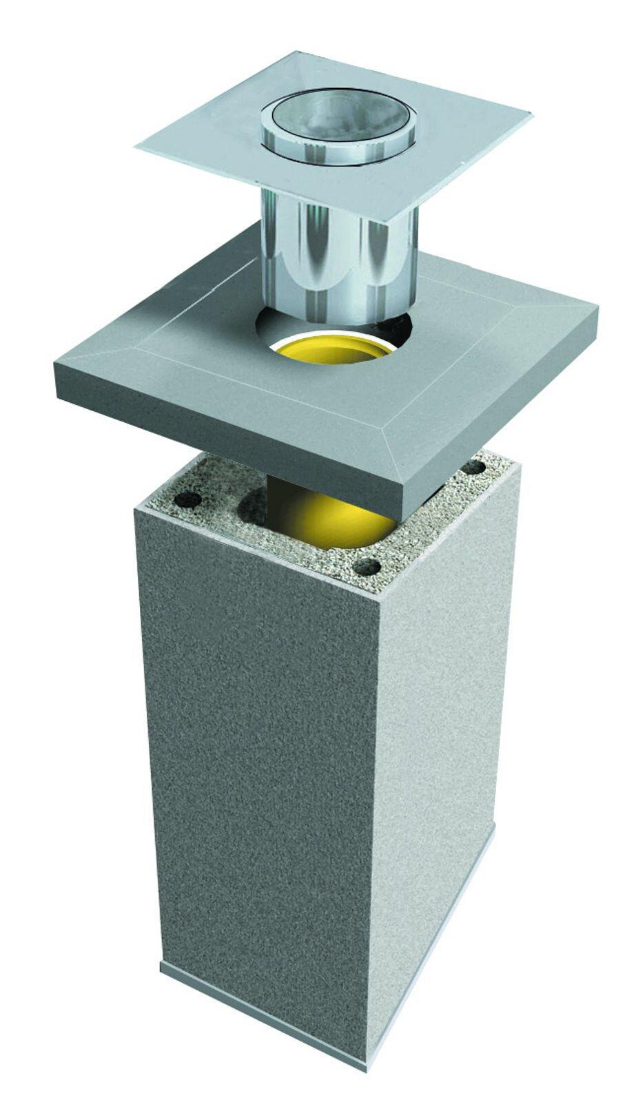 Schornstein Bausatz einzügig  Rundrohr  16 cm DN 6m Komplett Kaminrohr Esse