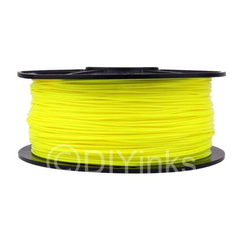 Fluorescent Yellow ABS 1.75mm WYZworks 3D Printer Premium Filament 1kg//2.2lb