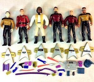 1994-Playmates-Star-Trek-TNG-Set-of-6-Action-Figures-Kirk-Picard-Data-Worf-Riker