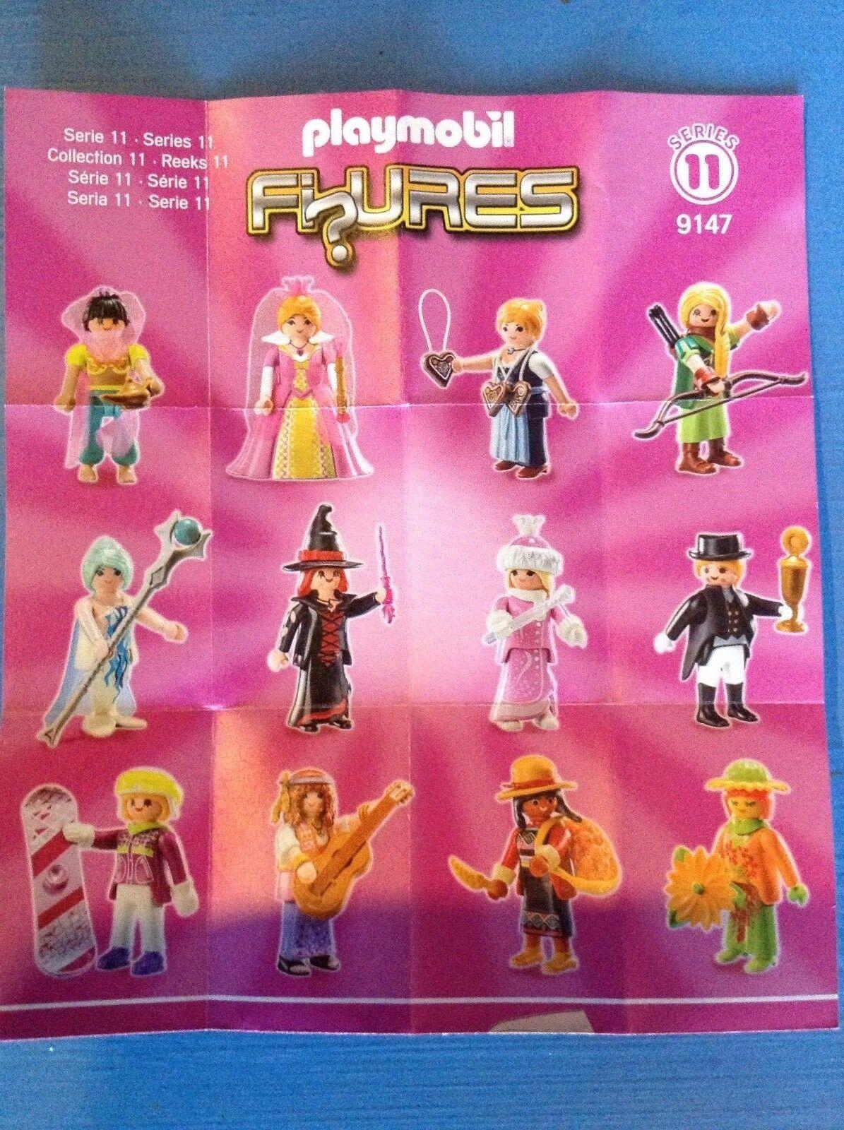 (N9147) playmobil série 11 fille complète 12 figurines ref 9147 neuve