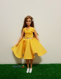 New-Curvy-golden-yellow-dress-for-Your-Curvy-Barbie-Doll-Au-Made