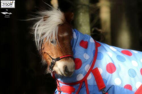 Lluvia manta points mini shetty 65 75 85 95 105 110 cuello parte 1200 d mini Pony