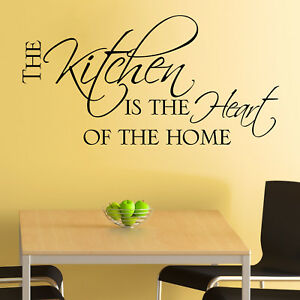 Kitchen-Wall-Sticker-The-Kitchen-is-the-Heart-of-the-Home-Dining-Room-Decal-Art