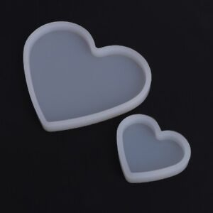 Silicone moule en forme coeur résine époxy moule bricolage fabrication de bijoux