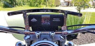 RPM BLACK BLUETOOTH MP3 FM RADIO MOTORCYCLE ATV STEREO SPEAKER HARLEY HONDA