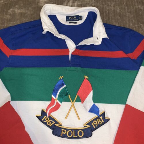POLO RALPH LAUREN CROSS FLAGS RUGBY MULTICOLOR SIZ