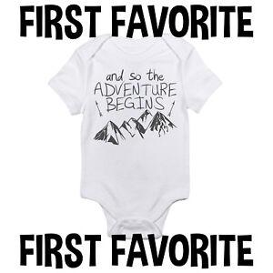 f476f4e77b7d Adventure Begins Baby Onesie Shirt Shower Gift Clothes Newborn ...