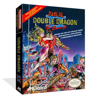 Double Dragon Ii The Revenge Nes Spare Game Case Box Cover Art