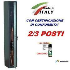 Armadietto mobiletto blindato in metallo porta fucili 2/3 posti fuciliera ITALY