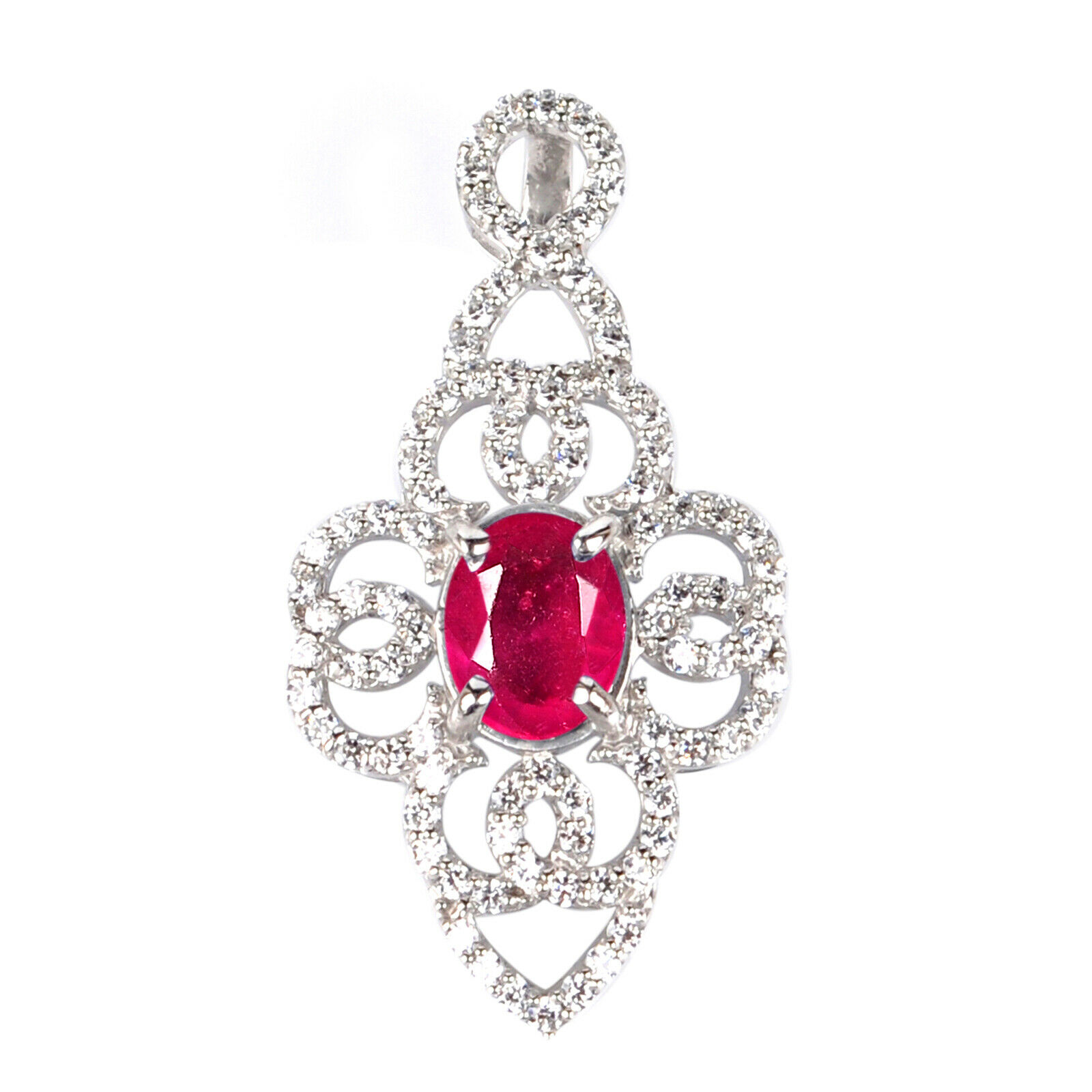 2.40ct Gold Natural Red Ruby Egl Certified Diamond Ring In 14kt Real White Gold Fine Jewelry