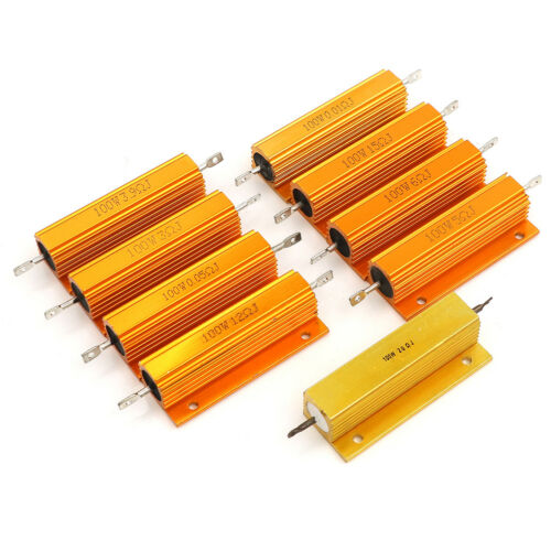 100W 0.01-20 ohm shell power aluminum housed case wirewound resistor newJC