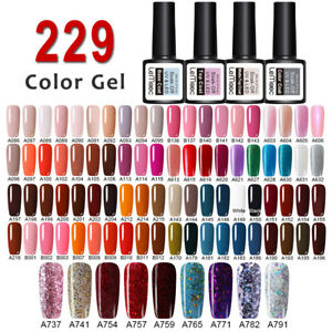 229 Colors LEMOOC Vernis à Ongles Semi-permanent UV LED Gel Nail Polish Manucure