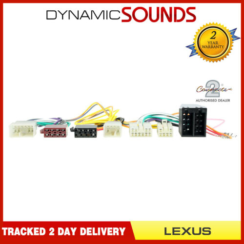 CT10LX01 Bluetooth Parrot borrachín T-arnés ISO Cable Adaptador Para Lexus IS250 2005 />
