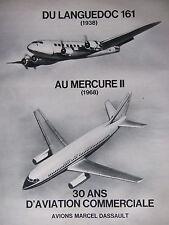 PUBLICITÉ PRESSE 1968 AVIONS MARCEL DASSAULT LANGUEDOC MERCURE II - ADVERTISING