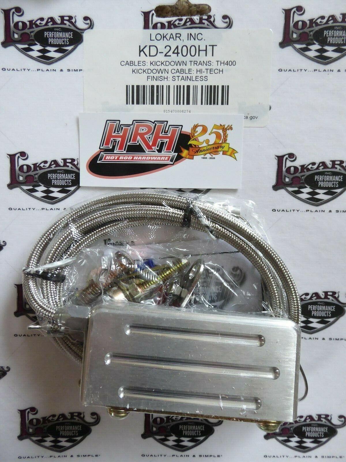 Lokar KDP-2727HT Hi-Tech Polished Kickdown Cable for Chrysler 727 Transmission