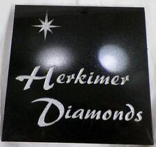 SQUARE GRANITE OR QUARTZ HERKIMER DIAMONDS COUNTERTOP ADVERTISING TILE PLAQUE