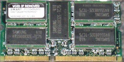 512MB SDRAM  PC133 32X8 9CHIPS 144PIN SODIMM ECC  15-9599-01