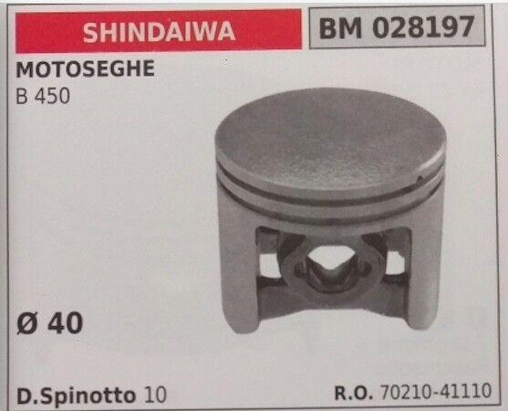 70210-41110 PISTONE COMPLETO SEGMENTI E SPIN MOTOSEGA SHINDAIWA B 450 Ø40