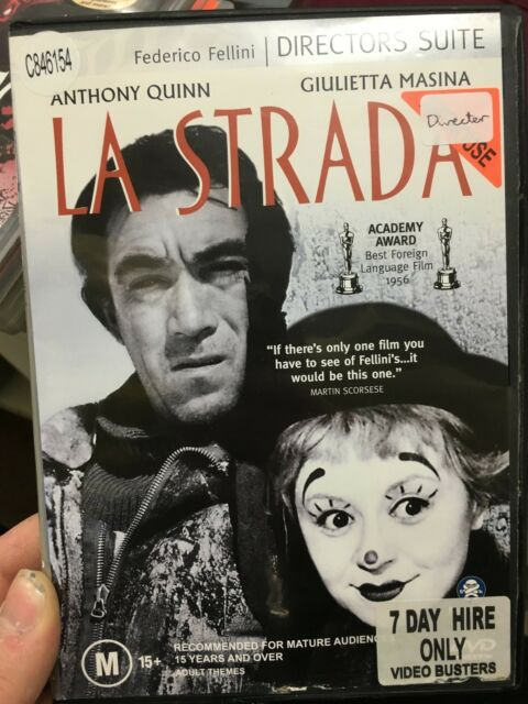 La Strada ex-rental DVD (1954 Federico Fellini Italian drama movie) RARE