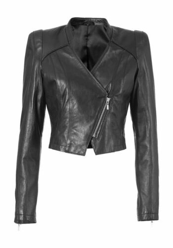 NEUF!! veste pu Isabella Fellini cuir synthétique veste Kp 87,99 € soldes/%/% Noir