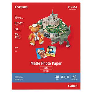 Canon Photo Paper Plus Matte 8-1/2 x 11 50 Sheets/Pack 7981A004