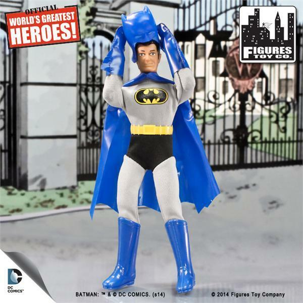 World's Greatest Heroes Retro BATMAN w  REMOVABLE COWL MEGO Figures Toy Company