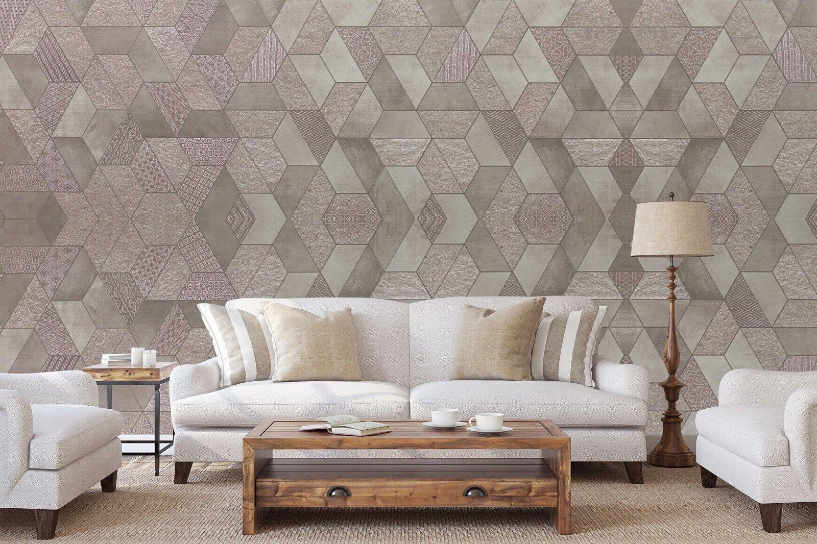 3D 3D 3D Office Home Popular 3 Texture Tiles Marble Wall Paper Decal Wallpaper Mural 48a351