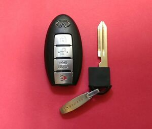 Details about OEM Infiniti G35 Smart Key Remote Keyless Fob KBRTN001 with  Chip and Key Clip