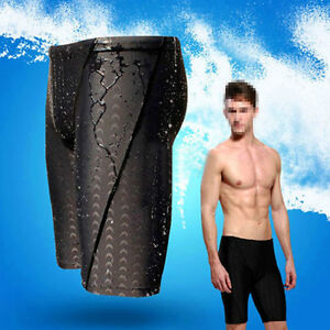 Fina-Approved-Men-Sharkskin-Racing-Training-Swimming-Trunk-Jammer-Swimwear-L-3XL