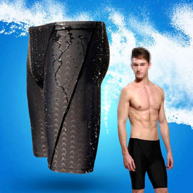 0633d20184 Fina Approved Men Sharkskin Racing Training Swimming Trunk Jammer Swimwear  L-3XL