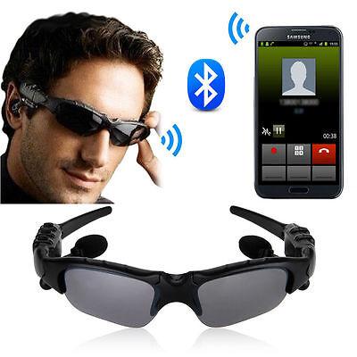 Wireless Bluetooth SunGlasses Headset Headphones Handfree For iPhone Samsung HTC