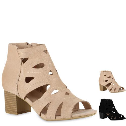 896184 Damen Schaftsandaletten Cut Out Sandaletten Mid Heel Schuhe Modatipp