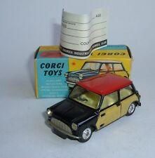 CORGI TOYS Nº 249, Mini Cooper con De-Luxe vimini, - SUPERBA Nuovo di zecca