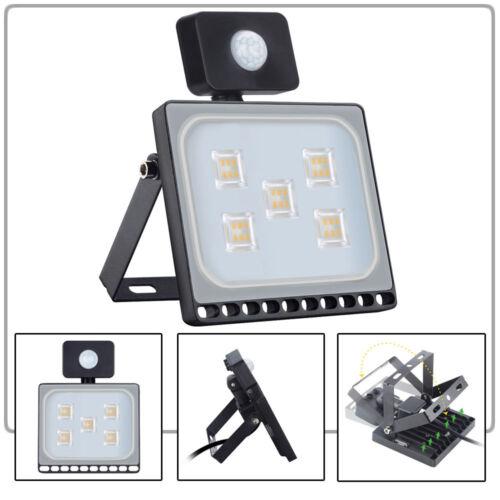LED Floodlight PIR Sensor Motion 20//30//50//100W Security Outdoor Spot Lamp IP65