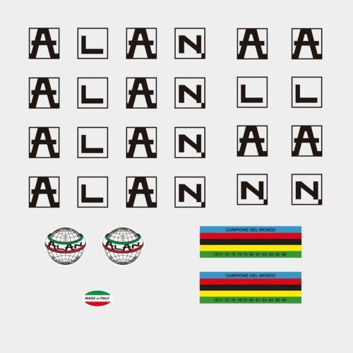 noir Alan c.1986 Bicyclette Cadre Autocollants-Decals-Transfers n.860