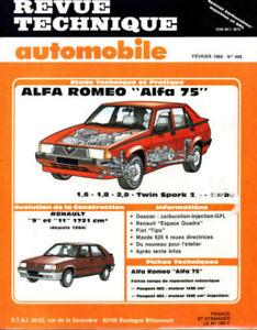 DéTerminé Rta Revue Technique Automobile N° 488 Alfa Romeo 75 1.6 1.8 2.0 Twin Spark Turbo 100% D'Origine