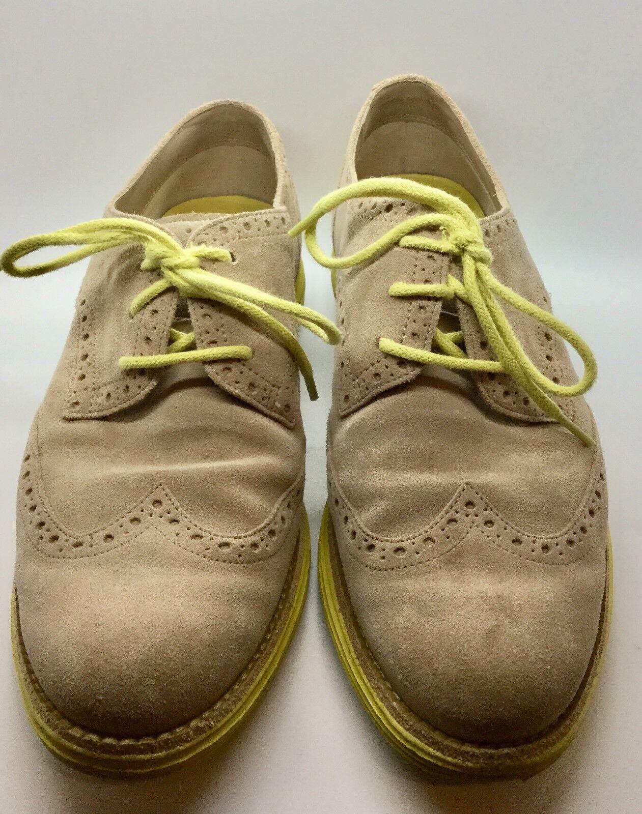 Cole Cole Cole haan lunargrand De Gamuza Marrón Amarillo Tamaño 8 Zapatos chatos Oxford Con Cordones  de moda