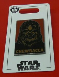 Disney-Enamel-Pin-Badge-Star-Wars-Chewbacca-Character-on-Card