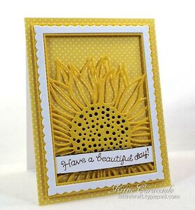 Impression Obsession SUNFLOWER BACKGROUND Craft DIE DIE515-YY New