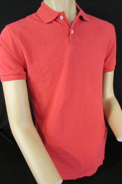 Neu J.Mannschaft Männer Baumwolle Hellrot Polohemd Klassisch Basic T-Shirt