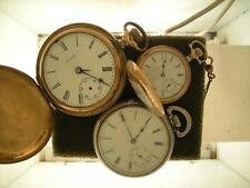 3 Elgin pocketwatches do not run for parts or rebuild