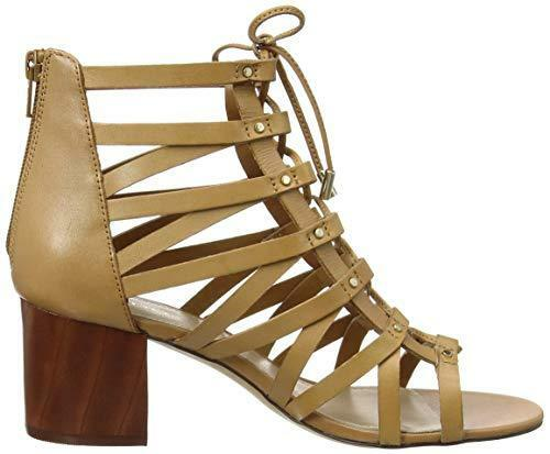 Lace Shoes 40 Up Real Size Aldo Leather New Tan Rrp£70 Gladiator Sandals 7 Myssi Yw87zEqI