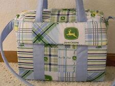 John Deere Green Madra blue trim custom handmade Diaper Bag w/chg pad by EMIJANE