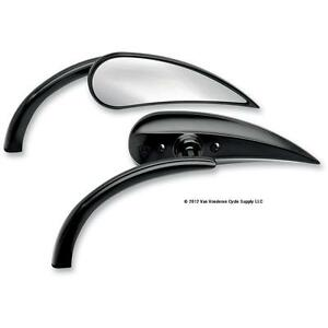 Arlen-Ness-Rad-II-2-Black-Mirrors-Pair-for-Harley