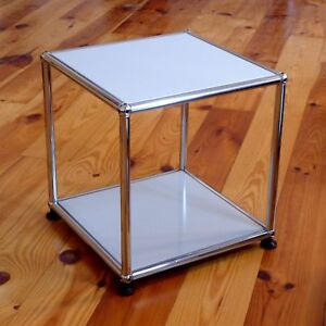 Usm Haller Tisch Beistelltisch Couchtisch 35x35 Mattsilber Würfel