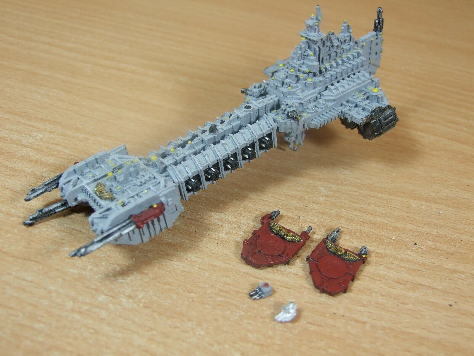 CLASSIC METAL BATTLEFLEET GOTHIC SPACE MARINE BATTLEBARGE PAINTED (013)