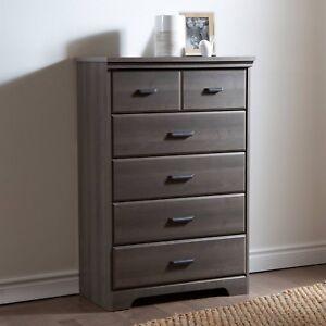 Details about Bedroom Dresser Drawers 5 Drawer Dressers Furniture Women  Kids Men Storage Chest