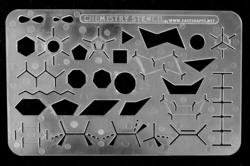 Organic Chemistry Stencil Drawing Template Easyshapes