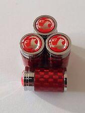 VAUXHALL RED Carbon Fiber alloy Wheel Valve Dust caps All Models CORSA ASTRA
